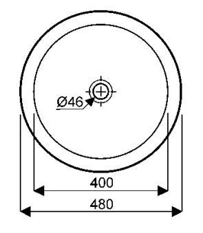 Vasques - Vasques à poser - Varicor® Florence 48 x 12 - blanc