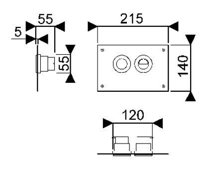 Bâti-supports - Accessoires bâti-supports - Publica 21,5 x 0,5 x 14 - chromé
