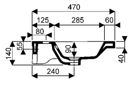 Plans de toilette - Plans de toilette en céramique - Rivage 120 x 47 x 4 - blanc