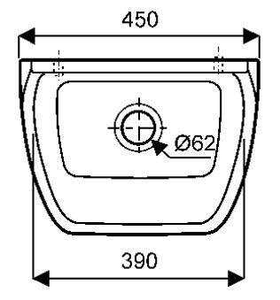 Equipts pour collectivités - Déversoir et vidoir - Publica 45 x 34 - blanc