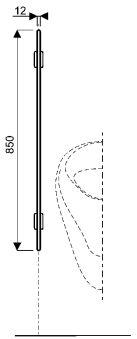 Equipts pour collectivités - Urinoirs - Publica 4,5 x 44,5 x 85 - palette spécifique - Palette spéci