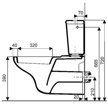 WC - WC suspendus - Publica 67 x 40 - blanc