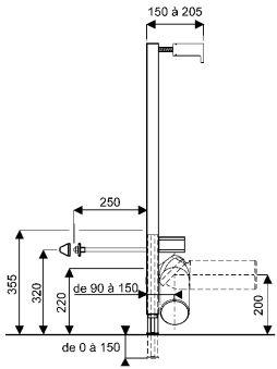 Bâti-supports - Chaises de montage - QFx 50 x 15 x 100