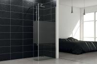 LUISINA - Easy+30 - Paroi de douche fixe sablée Easy 1400 mm et volet fixe 300 mm