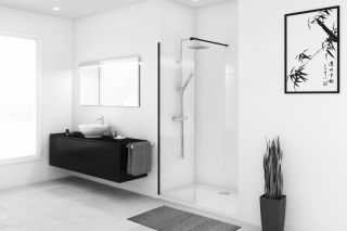 LUISINA - Erione - Paroi de douche fixe Erione 800 mm