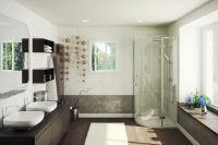 LUISINA - Soft - Accès d'angle arrondi porte pivotante Soft 900 mm