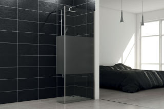 LUISINA - Lyora+30 - Paroi de douche fixe sablée Lyora 1000 mm et volet fixe 300 mm