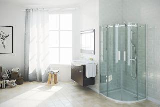 LUISINA - Soft - Accès d'angle 2 portes coulissantes Soft 900 mm