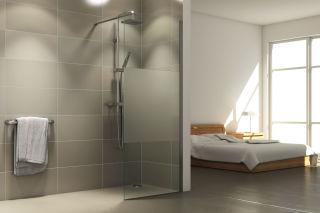 LUISINA - Easy - Paroi de douche fixe sablée Easy 900 mm