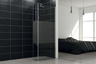 LUISINA - Lyora+30 - Paroi de douche fixe sablée Lyora 900 mm et volet fixe 300 mm