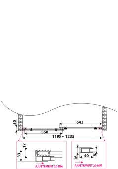 LUISINA - Dritto - Porte de douche coulissante Dritto 1200 mm