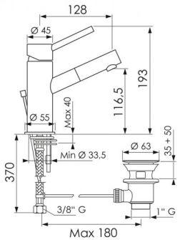 LUISINA - Success - Mitigeur vasque Success avec vidage laiton tirette