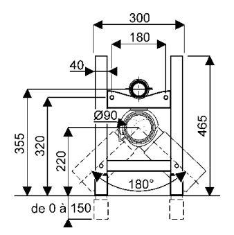 Bâti-supports - Chaises de montage - QFx 30 x 18 x 46,5