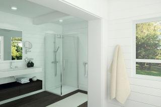 LUISINA - Sirli - Porte de douche pivotante et paroi fixe Sirli 900 mm