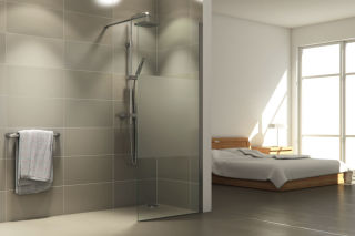 LUISINA - Easy - Paroi de douche fixe sablée Easy 800 mm