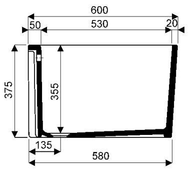 Equipts pour collectivités - Bacs à laver - Publica 50 x 60 x 37,5 - blanc