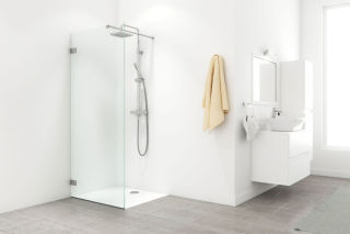 LUISINA - Alecto - Porte de douche fixe sans cadre Alecto 1000 mm