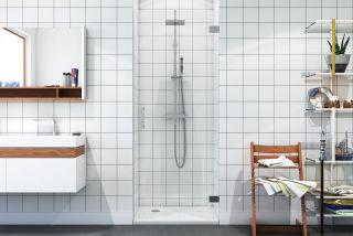 LUISINA - Dritto - Porte de douche pivotante sans cadre Dritto 900 mm