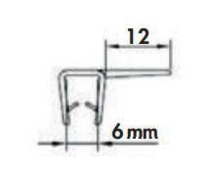 LUISINA - Joint fermeture verticale pour paroi en verre 6 mm