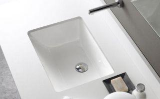 LUISINA -  - Torino - Vasque sous-plan Torino en porcelaine - 510 x 380 mm