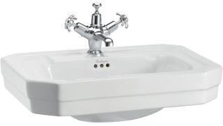 LUISINA -  - Victorien - Lavabo à poser Victorien en céramique - 565 x 470 mm - 3 trous de robinet
