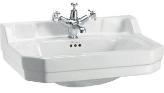 LUISINA -  - Edouardien - Lavabo à poser Edouardien en céramique - 620 x 505 mm - 3 trous de robinet