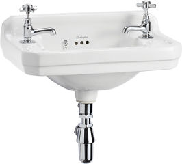 LUISINA -  - Edouardien - Lave-mains à poser Edouardien en céramique - 515 x 310 mm - 2 trous de robinet