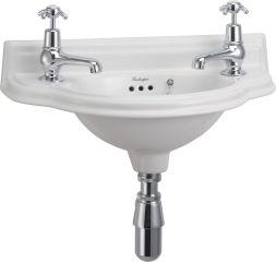 LUISINA -  - Edouardien - Lave-mains à poser Edouardien en céramique - 500 x 255 mm - 2 trous de robinet
