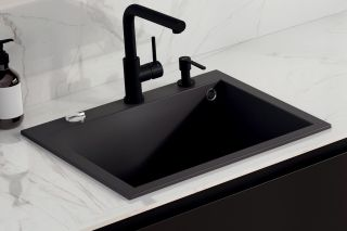 LUISINA - Distributeur de savon bec arrondi en inox massif noir mat
