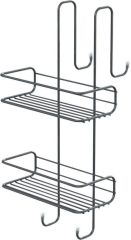 LUISINA - Porte-objets à suspendre pour cabine de douche coloris Chromé