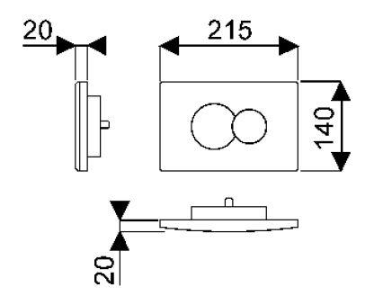Bâti-supports - Accessoires bâti-supports - Combo 21,5 x 2 x 14 - Chromé brillant
