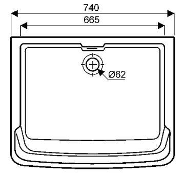 Equipts pour collectivités - Bacs à laver - Garda 74 x 60 x 35 - blanc