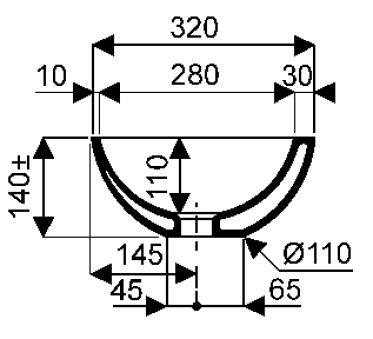 Vasques - Vasques à poser - Vanity 32 x 14 - Noir mat