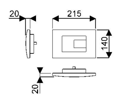 Bâti-supports - Accessoires bâti-supports - Biba 21,5 x 2 x 14 - Chromé